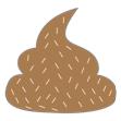 Crottes de chien marrons avec grains de couleur blanche