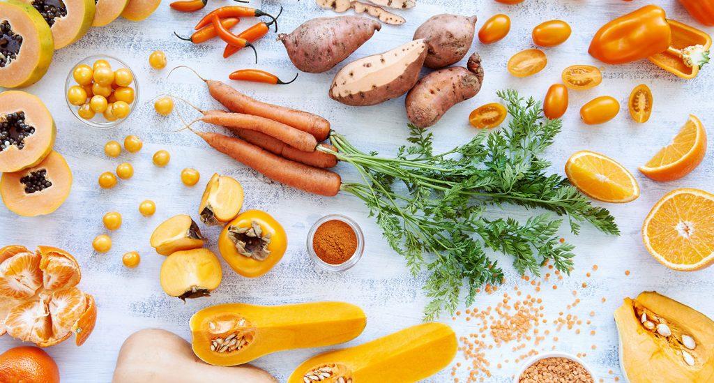 Vegetaux principaux à l'origine de beta-carotene